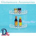 Kitchen dish storage rack adjustable angle iron shelf wrought iron plate rack
