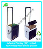 OEM Easy Assemble Foldable Corrugated Cardboard Trolley Box For Retail Store