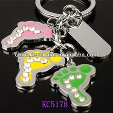 Alibaba France Colourful Footprint Keychains Handicraft
