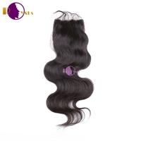 Wholesale Brazilian hair closure, 100% virgin human hair, body wave natural color