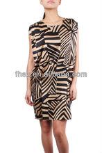 New Design short sheeve ladies causel dress fashion women dress