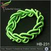 New design pulsera spring green rubber bracelet elastic fabric bracelet