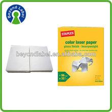 Eco-friendly fancy custom adhesive destructive glossy paper a4 sticker label design