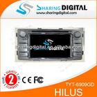 TYT-6909GD Support 3G Modem toyota hilux car dvd player