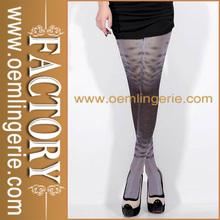 Fashionable black women thigh high nylon stocking and silk stocking