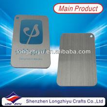 Printing brushed metal aluminium plate, customized metal brushed dog tag badge nameplate