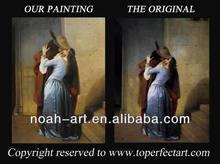 Handmade romantic lovers oil painting on canvas