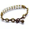 2014 Hot sale colombian handmade jewelry, glass beads handmade bracelets NSB-7017