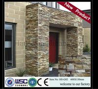 sandstone outdoor tiles/stack stone mesh tile/ledge stone wall tile HS- G02