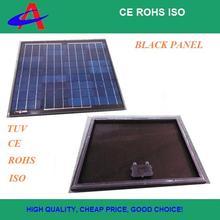 60W polycrystalline black solar panel, all black high efficiency