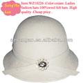 ผลิต/ขายส่งครีมฟางหมวกเบเร่ต์ผู้หญิงfabricelanacap100woolรู้สึกสวมหมวกแปลก/อุปกรณ์headwear