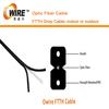 G657 FTTH 2 core fiber optic cable