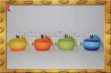 Newest novelty clear trans parent salad bowl porcelain