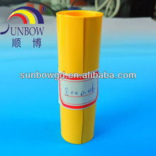 80MM yellow PVC heat shrink tube for battery packing