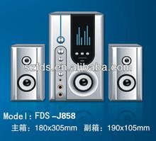 Supper bass series 2.1 speaker FDS-J858with USB,SD,Karaoka
