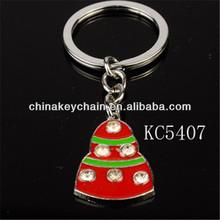 Hot-selling promotional custom metal keychain red enamel keyring