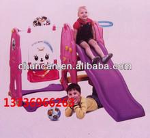 children plastic slide and swing
