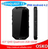 "4.3"" TFT QHD MTK6589 1.2GHz Quad core IP68 rugged waterproof cell phone"