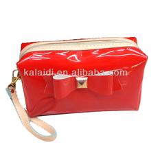 Wholesale satin pu cosmetic bag