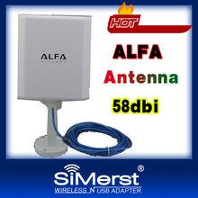 Newest ALFA Ralink3070 pannel High power Indoor & outdoor waterproof USB Wireless adapter 58db with 5meters cable WiFi decoder