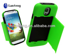 super slim phone case with one credit card pouch Stand leather case for SAMSUNG GALAXY S4 i9500