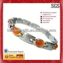 Ingrosso bracciale in acciaio, 14k rainso braccialetto del gioielli