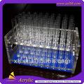Atacado limpar tubo de ensaio acrílico stand / titular tubo de ensaio