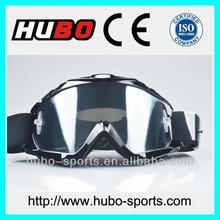 TPU frame custom logo silicone band dirt bike goggles with tear off