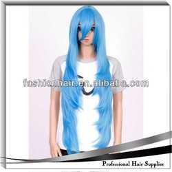 beautiful bun piece dark blue cosplay wig
