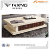 inlaid wooden curved coffee table D8828