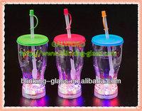 flashing led plastic cup