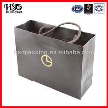 flat handle kraft paper bag &Shopping kraft paper bag With Handles,High quality Branded Retail flat handle kraft paper bag