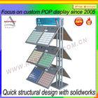 floor accessory double-side retail tile sample display shelf