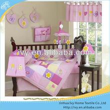 Red raspberry cot luxury baby bedding