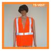 Simple Take off Reflective Safety Orange Reflecting Protective Clothing
