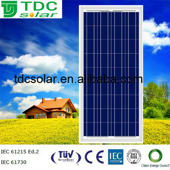 Special offer 150W/140W/130W/120W High Efficiency Solar Panle Price TUV CE CEC CERTIFIED