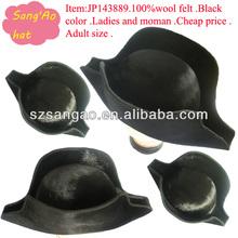 wholesale/Customized Black school children felt hat for boyes/girls Popular lana cap&hats100%wool wear for kids top/causal