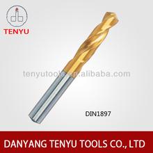 DIN 1897 HSS twist drilling bit with tin surface