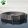 Brown Customized plain nylon dog collars with Laser Etched Personalized Buckle
