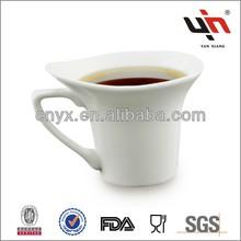 YB041 New White Stoneware Handpainted Mugs
