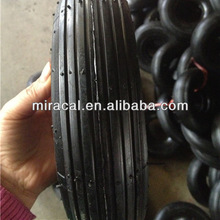 cart wheel solid rubber tires 3.00-4 straight burr for Wheelbarrow