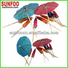 Customized cheap blue cocktail umbrella