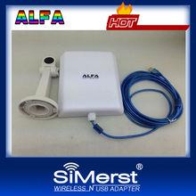 Latest ALFA pannel High power Indoor & outdoor waterproof Ralink3070 USB Wireless adapter 58db WiFi decoder (5meter cable)