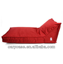 red long lounge bean bags
