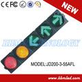 8 pulgadas de color rojo de la lámpara led de tráfico cd200-3-55afl módulo