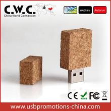 full capacity wine cork usb stick usb flash pen drive rectangle/square shape wooden usb 1gb2gb4gb8gb16gb