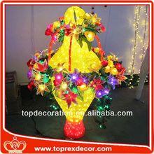 LED Lighted giant plastic flower decorations