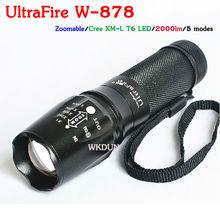 UltraFire E26 5-Mode cree xml t6 cree led flashlight 2000 lumens