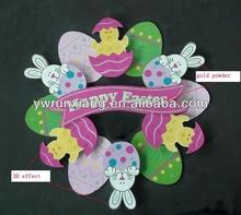 Fashion Design Paper Cut Easter Wreath Sticker Decorations
