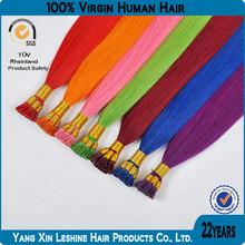 6A, 7A, 8A 100% human hair high quality popular cheap wholesale 0.5/0.8/1.0g peruvian pre bonded hair Keratin hair i tip hair